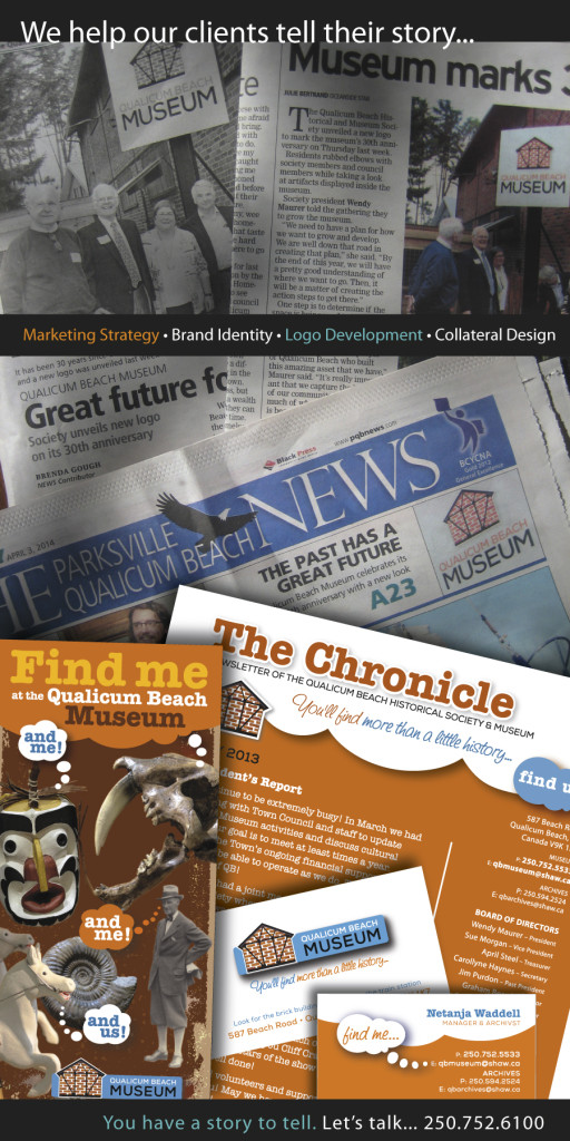 Qualicum Beach Museum marketing and communications project