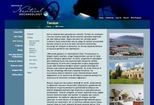 Underwater archaeology information in Turkish