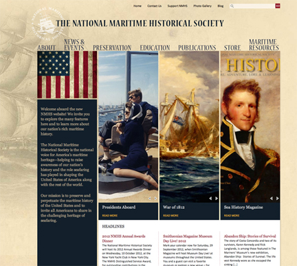 www.seahistory.org website by Blackberry Creative